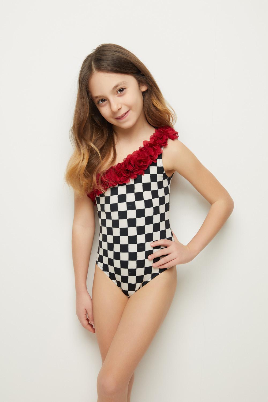 5d70277057 Queen Kids Swimsuit BW | R | LOVEKINI Beachwear